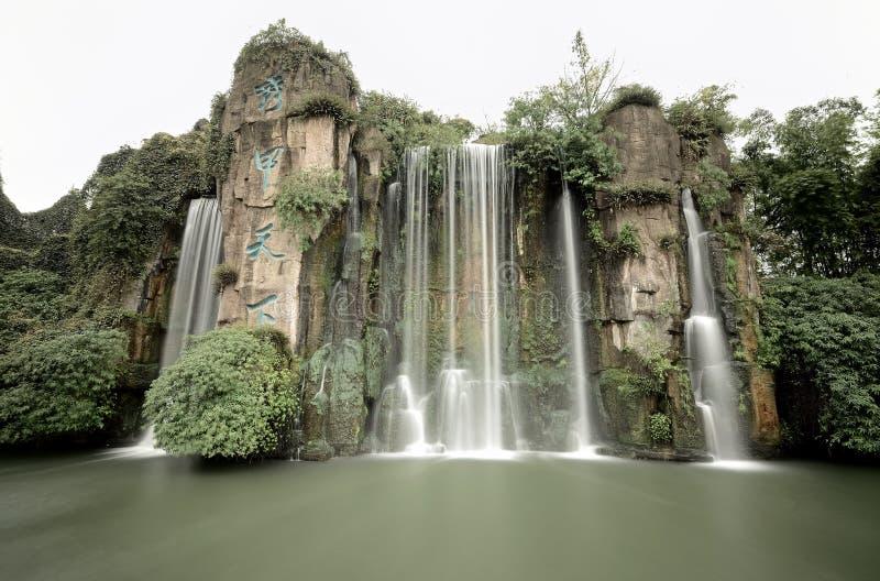 Cachoeira em Mount Emei fotografia de stock royalty free