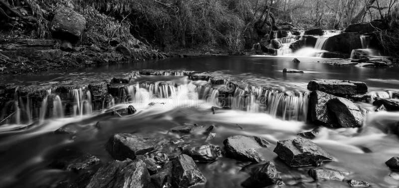 Cachoeira em Northumberland Reino Unido imagem de stock