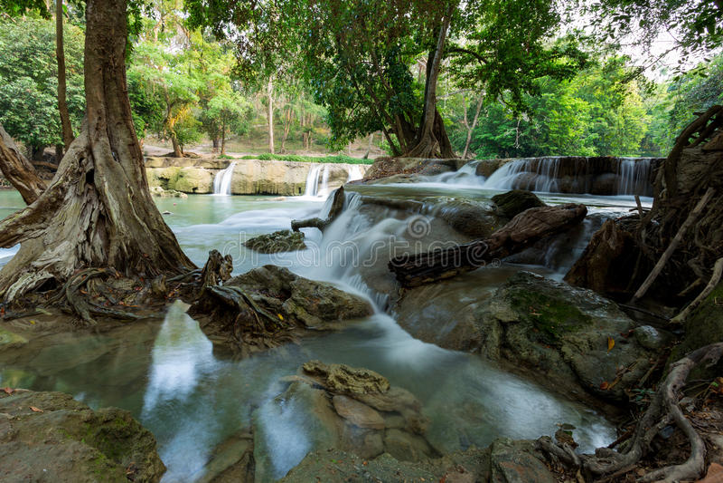 Cachoeira em Tailândia imagens de stock royalty free