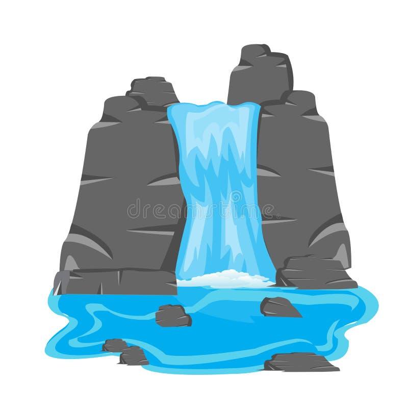 Cachoeira entre a pedra imagens de stock royalty free