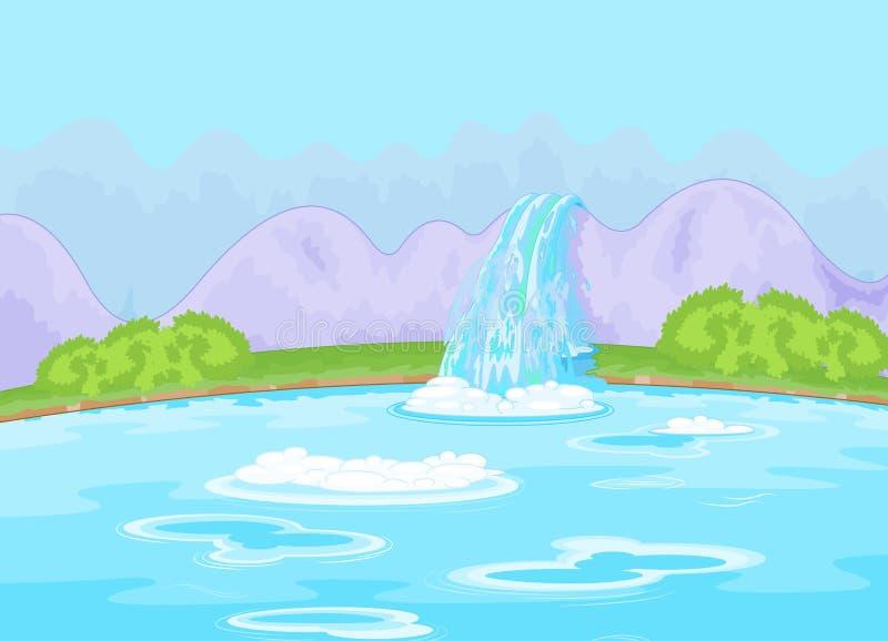 Cachoeira fabulosa ilustração royalty free