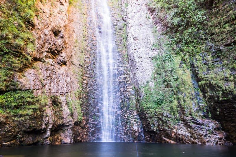 Cachoeira gör Segredo - Chapada DOS Veadeiros, Goias, Brasilien arkivbild