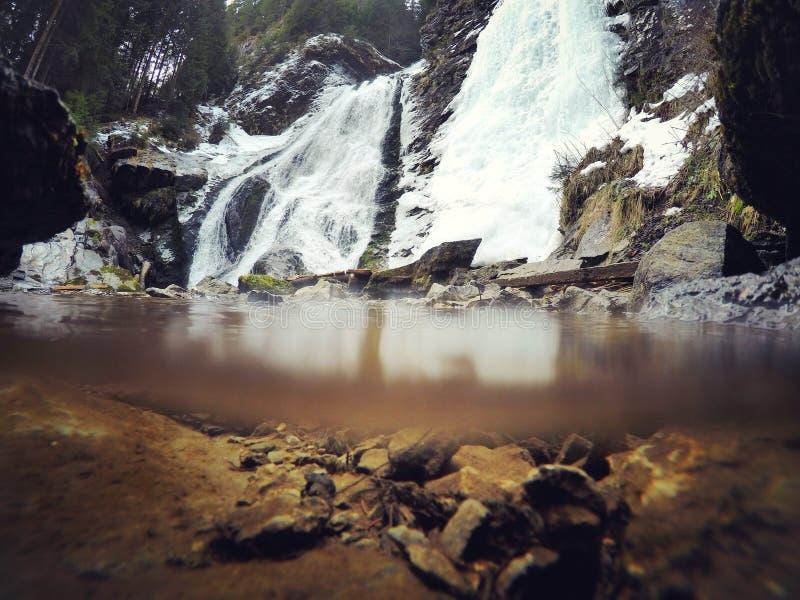 Cachoeira gelada fotografia de stock royalty free