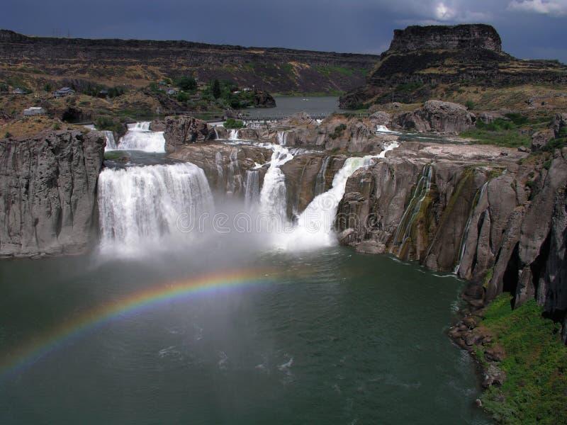 cachoeira idaho do shoshone fotografia de stock