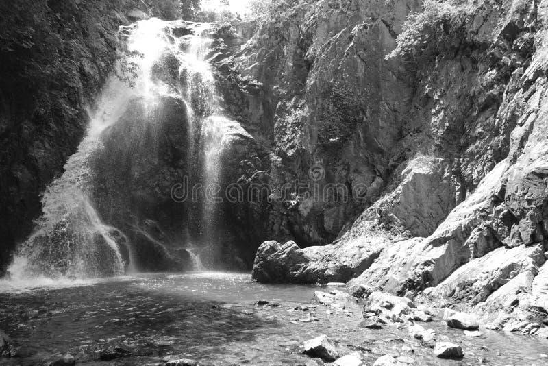 Cachoeira Imagem da cachoeira magnífica que flui das profundidades da cachoeira de Sudusen da floresta Yalova, Turquia foto de stock royalty free