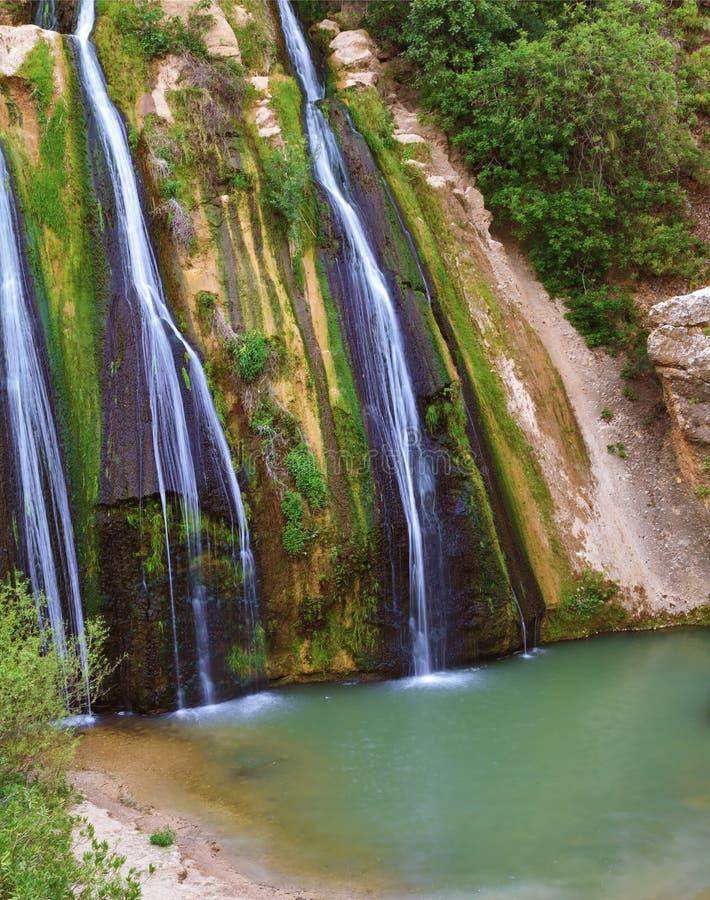 Cachoeira incomum do três-jato imagem de stock royalty free