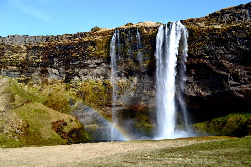 Cachoeira islandêsa imagens de stock