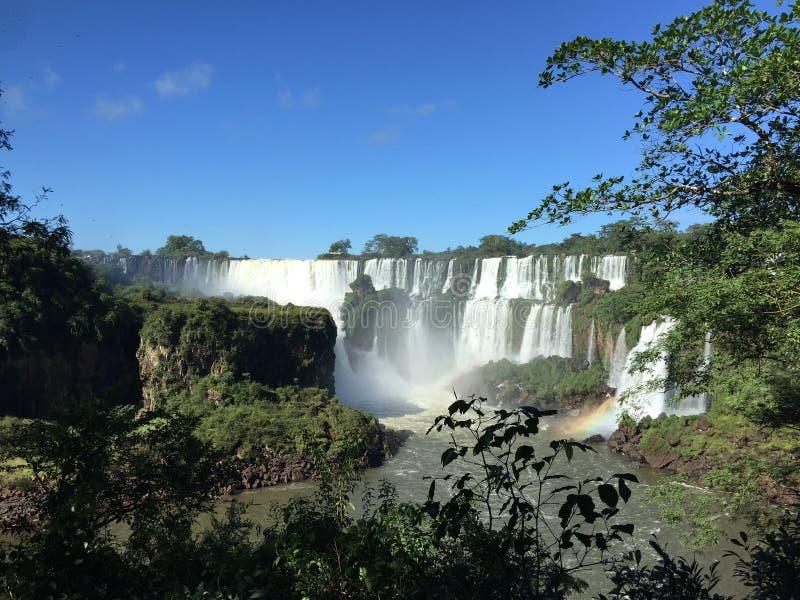 A cachoeira a maior no mundo - lado de Foz de Iguaçu Argentina imagens de stock royalty free