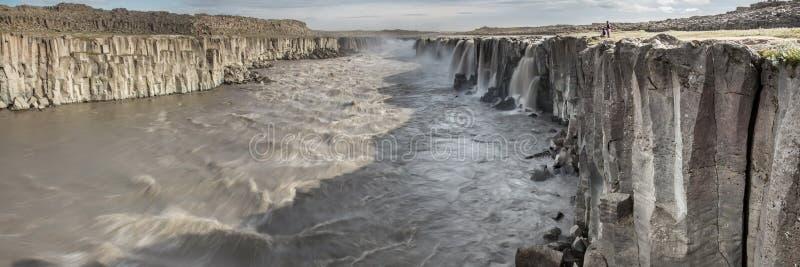 Cachoeira majestosa de Selfoss imagens de stock