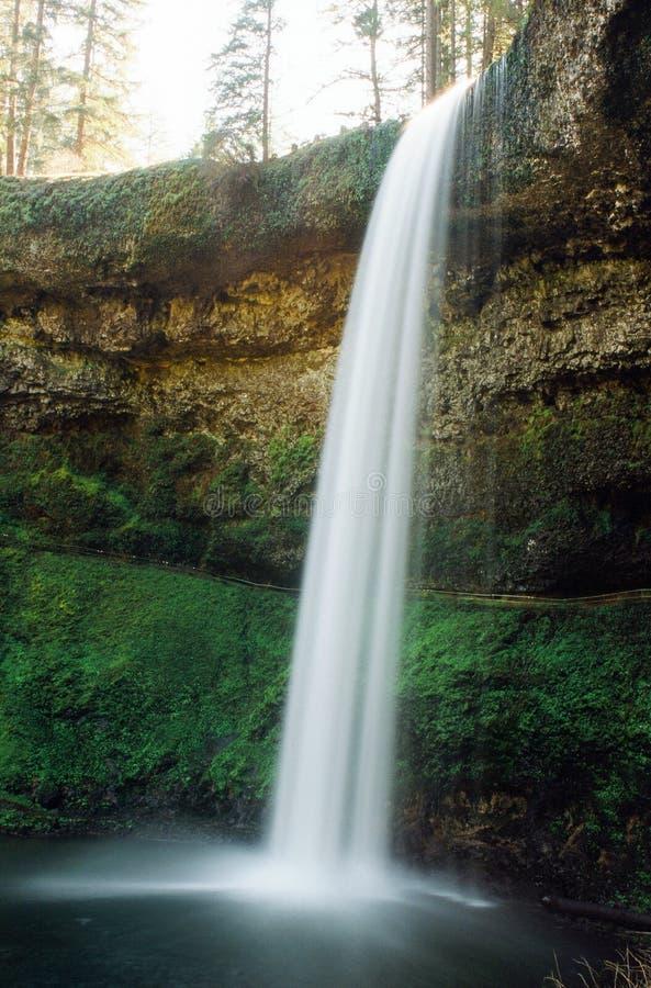 A cachoeira na prata cai parque estadual de Oregon fotografia de stock royalty free