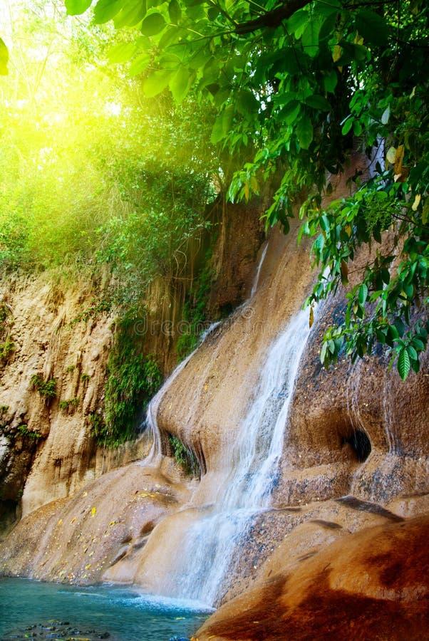 Cachoeira na selva imagem de stock