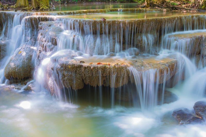 Cachoeira na selva profunda da floresta tropical imagens de stock
