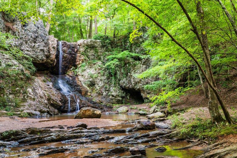 Cachoeira nas montanhas perto de Atlanta imagem de stock