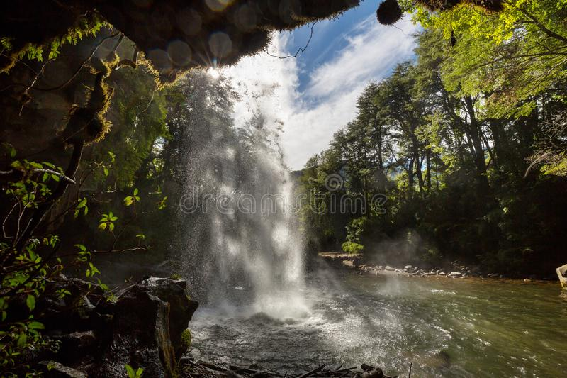 Cachoeira no Chile foto de stock