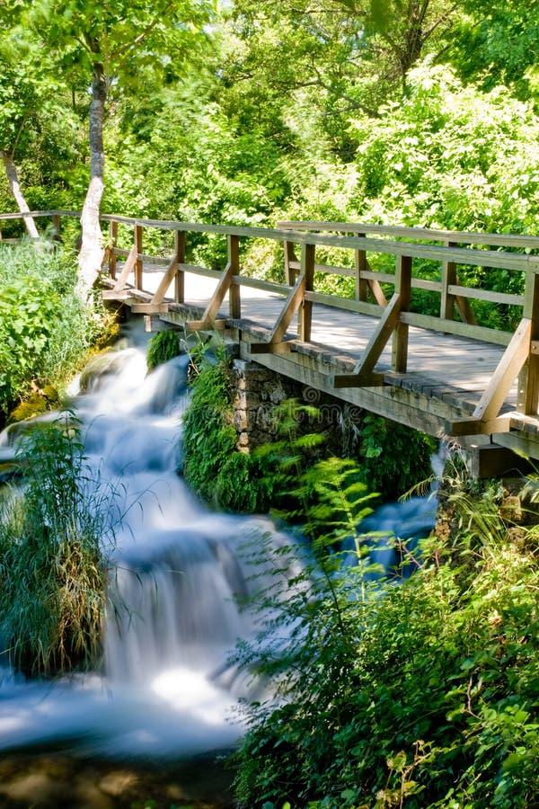 Cachoeira no parque nacional de Krka em Croatia imagem de stock