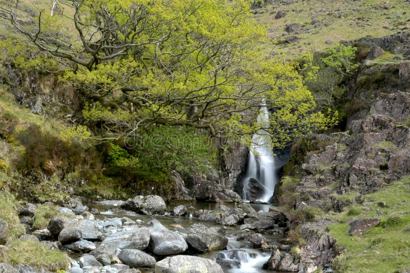 Cachoeira no rio Esk fotografia de stock royalty free