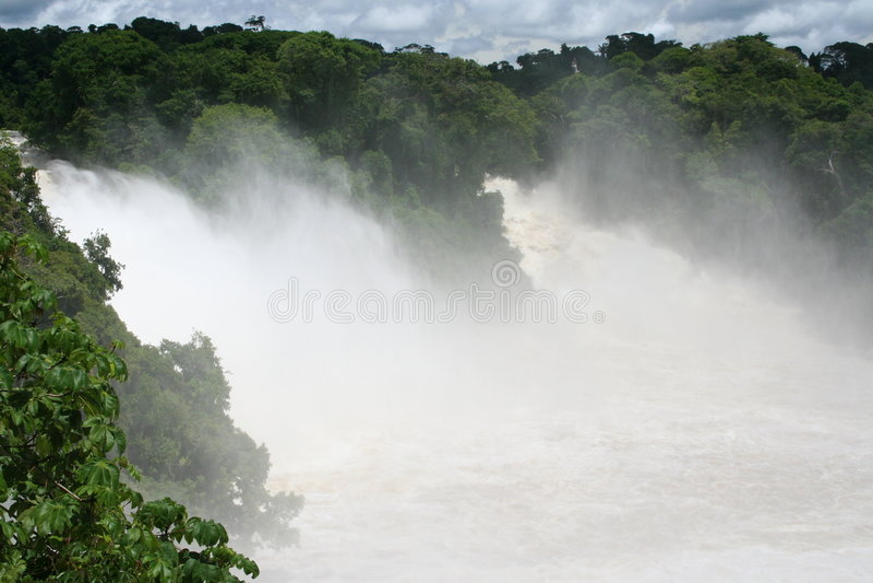 Cachoeira nos tropics fotografia de stock royalty free