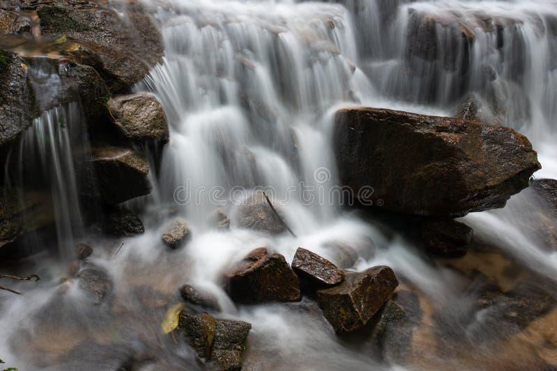 Cachoeira pequena bonita na floresta tropical em Mae-Kam-Pong, Chiang Mai, Tailândia fotos de stock royalty free