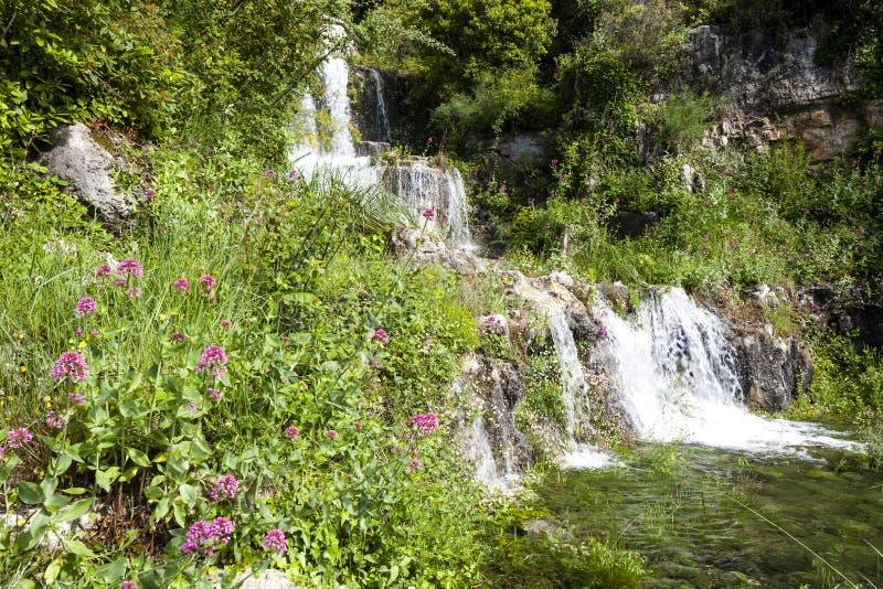 cachoeira perto de Grasse, Provence, Fran?a foto de stock