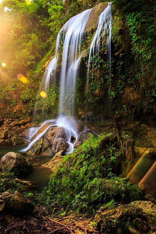 Cachoeira Salto de Soroa, Candelaria fotos de stock