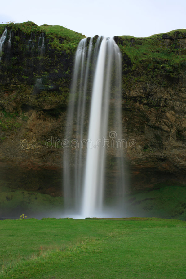 Cachoeira Seljalandsfoss foto de stock