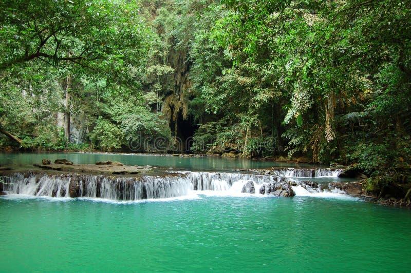 Cachoeira tropical imagens de stock