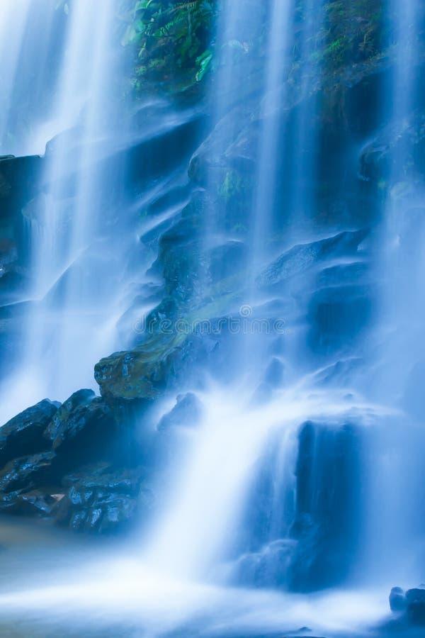Cachoeira tropical pitoresca na manhã do verão imagens de stock