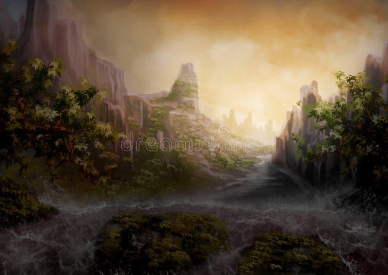Cachoeiras ilustração do vetor