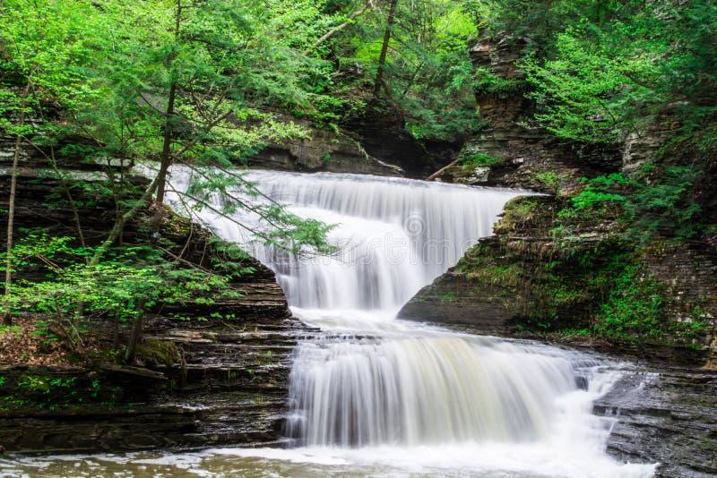 Cachoeiras da fuga das quedas do soro de leite coalhado imagem de stock royalty free