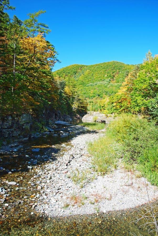 Cachoeiras da queda do rio de Vanchin Milogradovka em Primory imagem de stock