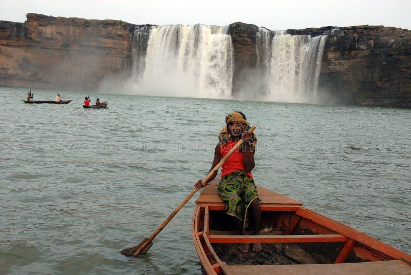Cachoeiras de Chitrakoot fotos de stock