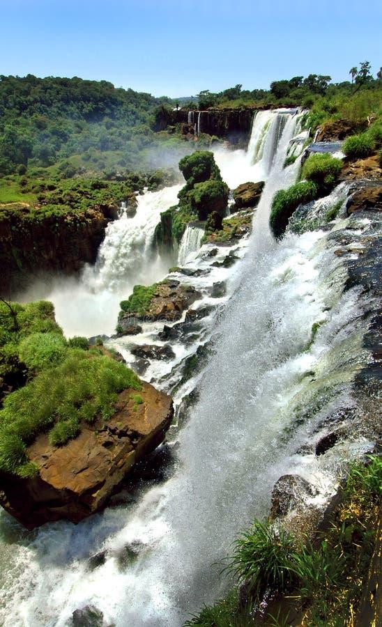Cachoeiras de Iguazu (Argentina e Brasil) imagem de stock