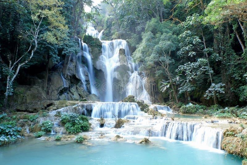 Cachoeiras de Kouang Xi foto de stock royalty free