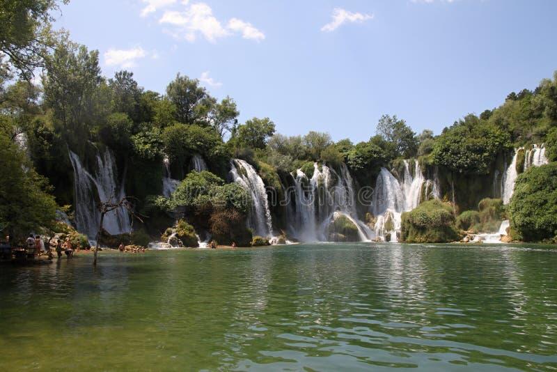 Cachoeiras de Kravica fotografia de stock