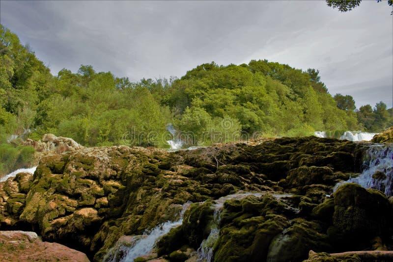 Cachoeiras de Krka foto de stock