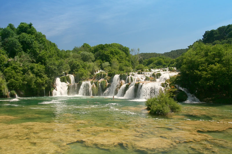 Cachoeiras de Krka (Croatia) fotografia de stock royalty free