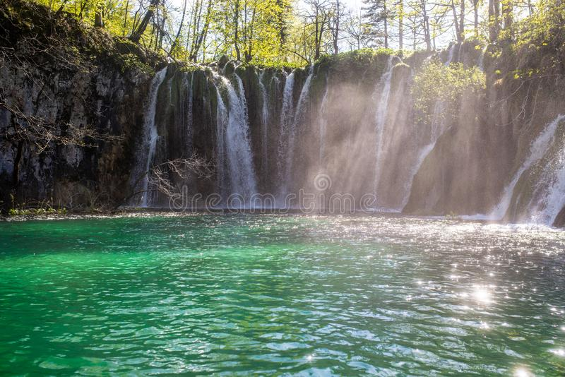 Cachoeiras de lagos Plitvicka fotografia de stock royalty free