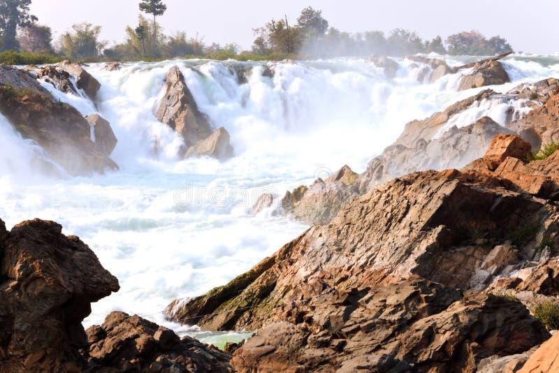 Cachoeiras de peng do pha de Khong foto de stock
