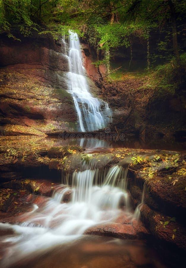 Cachoeiras de Pwll y Wrach imagens de stock