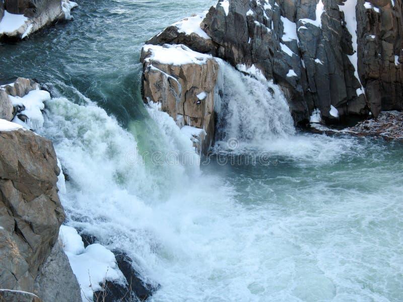 Cachoeiras do inverno fotografia de stock