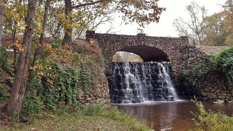 Cachoeiras dos jardins de Reynolda fotos de stock royalty free