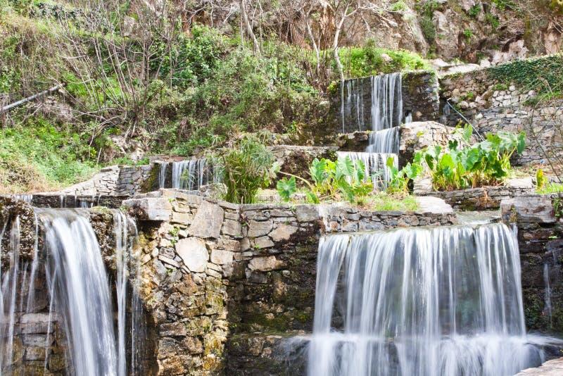 Cachoeiras em Argyroupoli fotos de stock