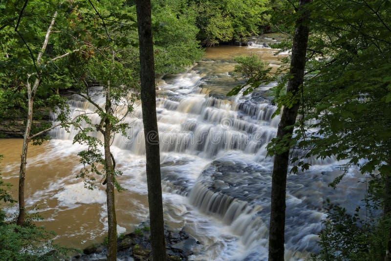 Cachoeiras em Burgess State Park imagens de stock
