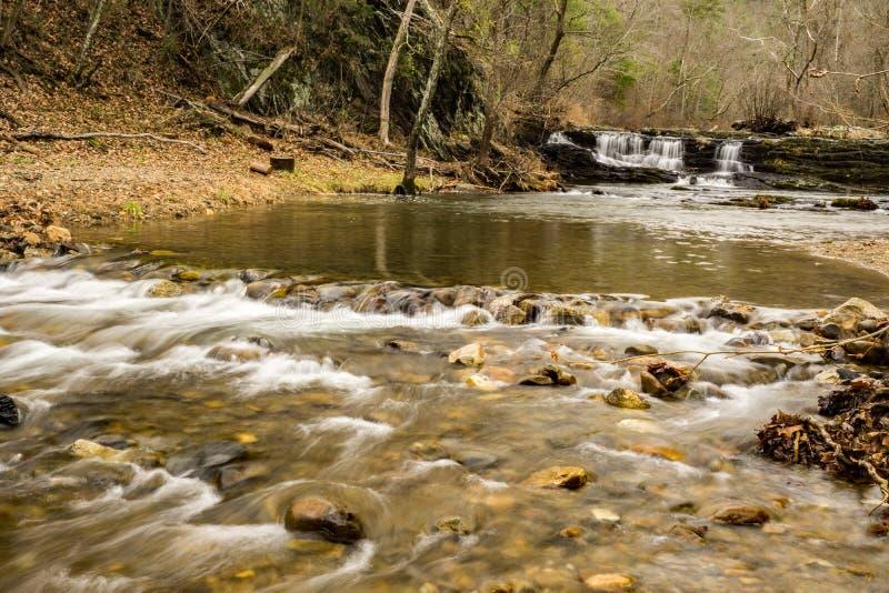 Cachoeiras em Ridge Mountains azul de Virgínia, EUA foto de stock royalty free