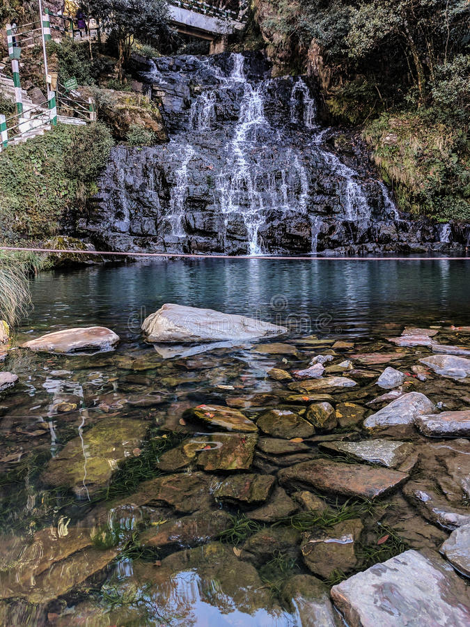 Cachoeiras na Índia do leste norte imagens de stock royalty free