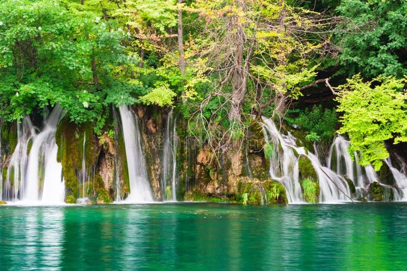 Cachoeiras no parque nacional. Plitvice imagens de stock royalty free