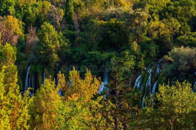 Cachoeiras pequenas Kravice foto de stock