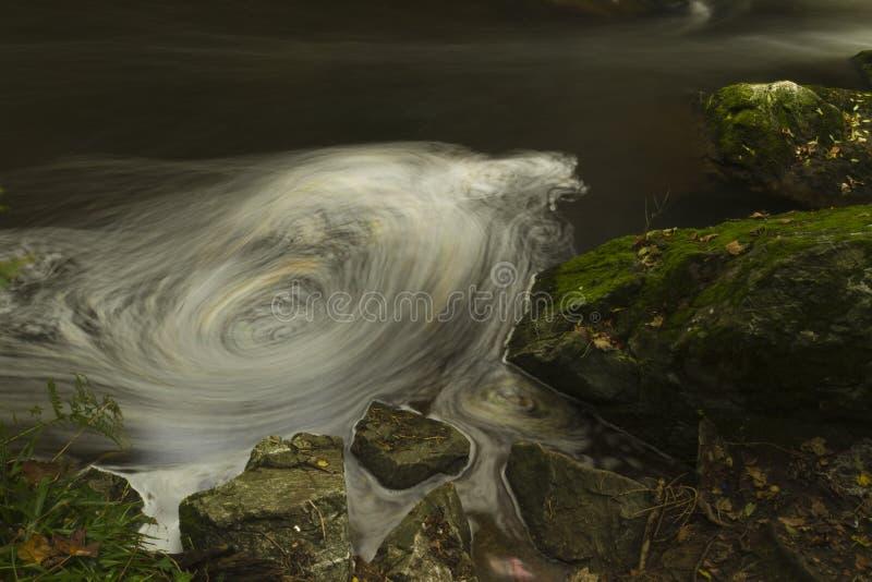 Cachoeiras pequenas, a reserva natural Llangefni do Dingle. Expo longa foto de stock royalty free