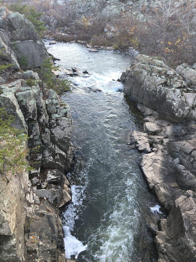 Cachoeiras perto do canal de C&O fotos de stock royalty free