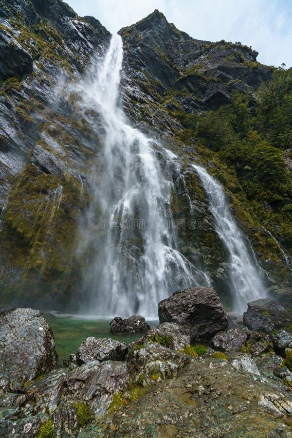 Cachoeiras poderosas, quedas do earland, southland, Nova Zelândia 9 fotografia de stock